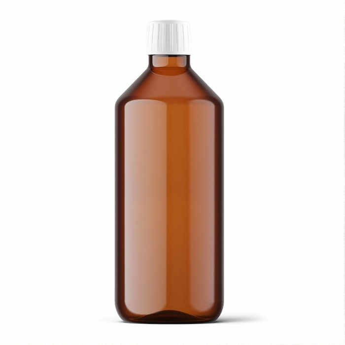 Product image Brown White Label Bulk Bottle with White Cap